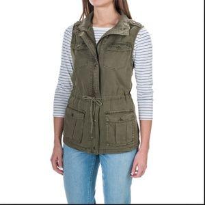 NWT Max Jeans Soft 100% Tencel Green Utility Vest